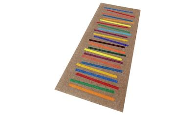 Läufer, »Mixed Stripes«, wash+dry by Kleen - Tex, rechteckig, Höhe 9 mm, gedruckt kaufen