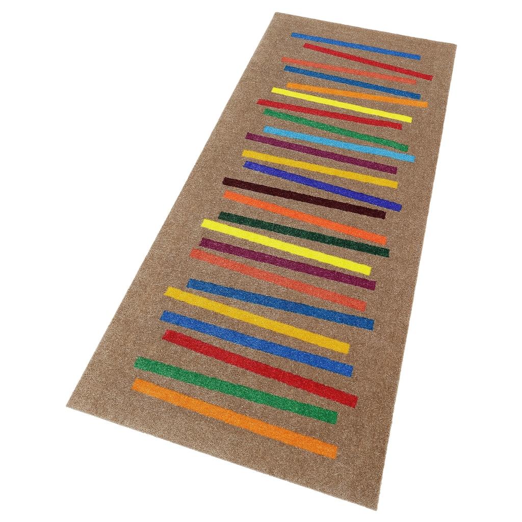 wash+dry by Kleen-Tex Läufer »Mixed Stripes«, rechteckig, 9 mm Höhe, In- und Outdoor geeignet, waschbar