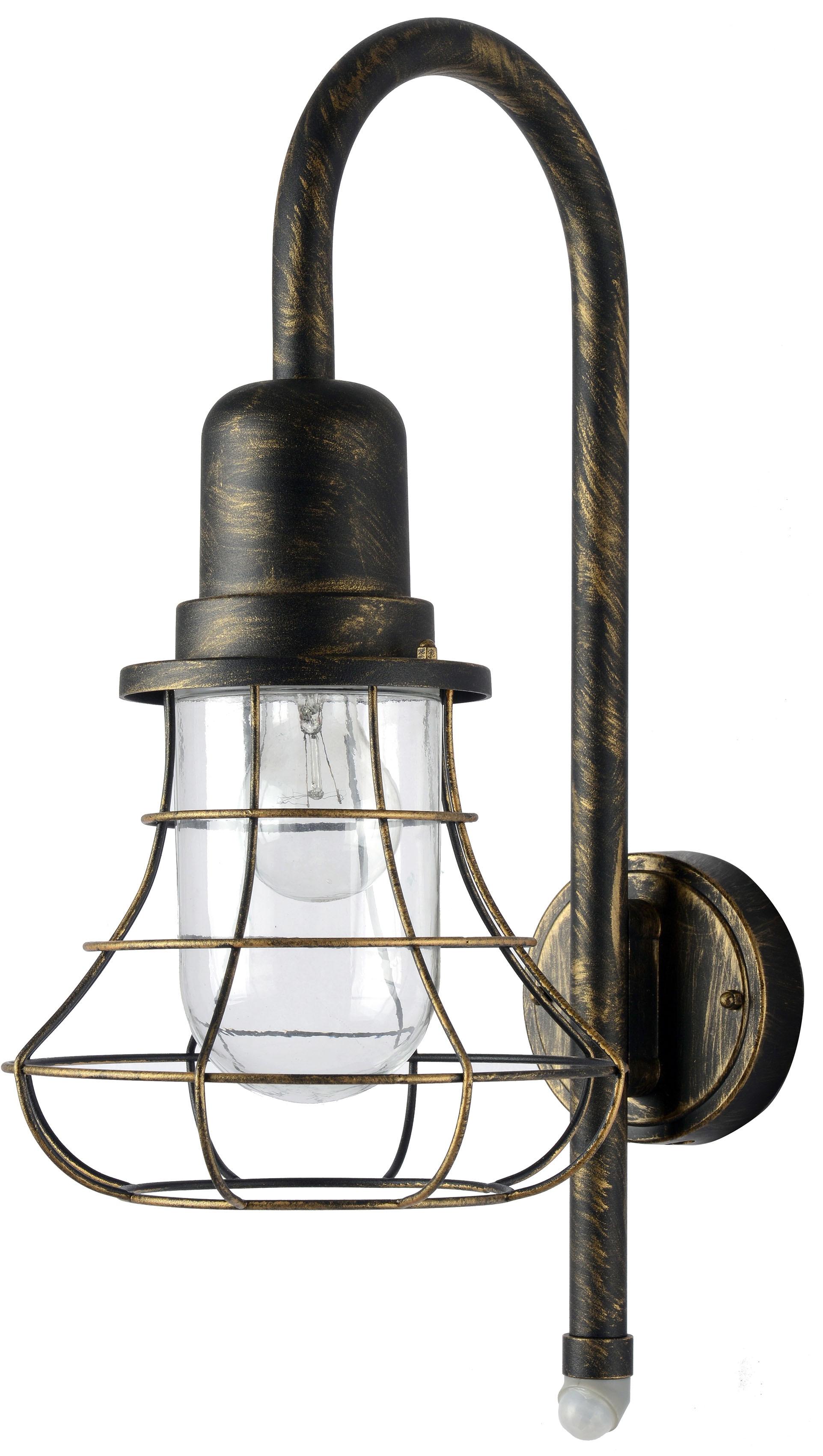 LUTEC Außen-Wandleuchte BIRD 1901-PIR BG, E27, 1 St., Bewegungsmelder