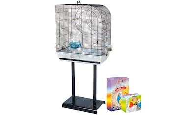 HEIM Set: Vogelkäfig »Arte 5«, BxTxH: 64x38x138 cm, inkl. Zubehör und Ständer kaufen