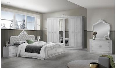 Schlafkontor Bett »Luiza«, mit gepolstertem Kopfteil im Barockstil kaufen