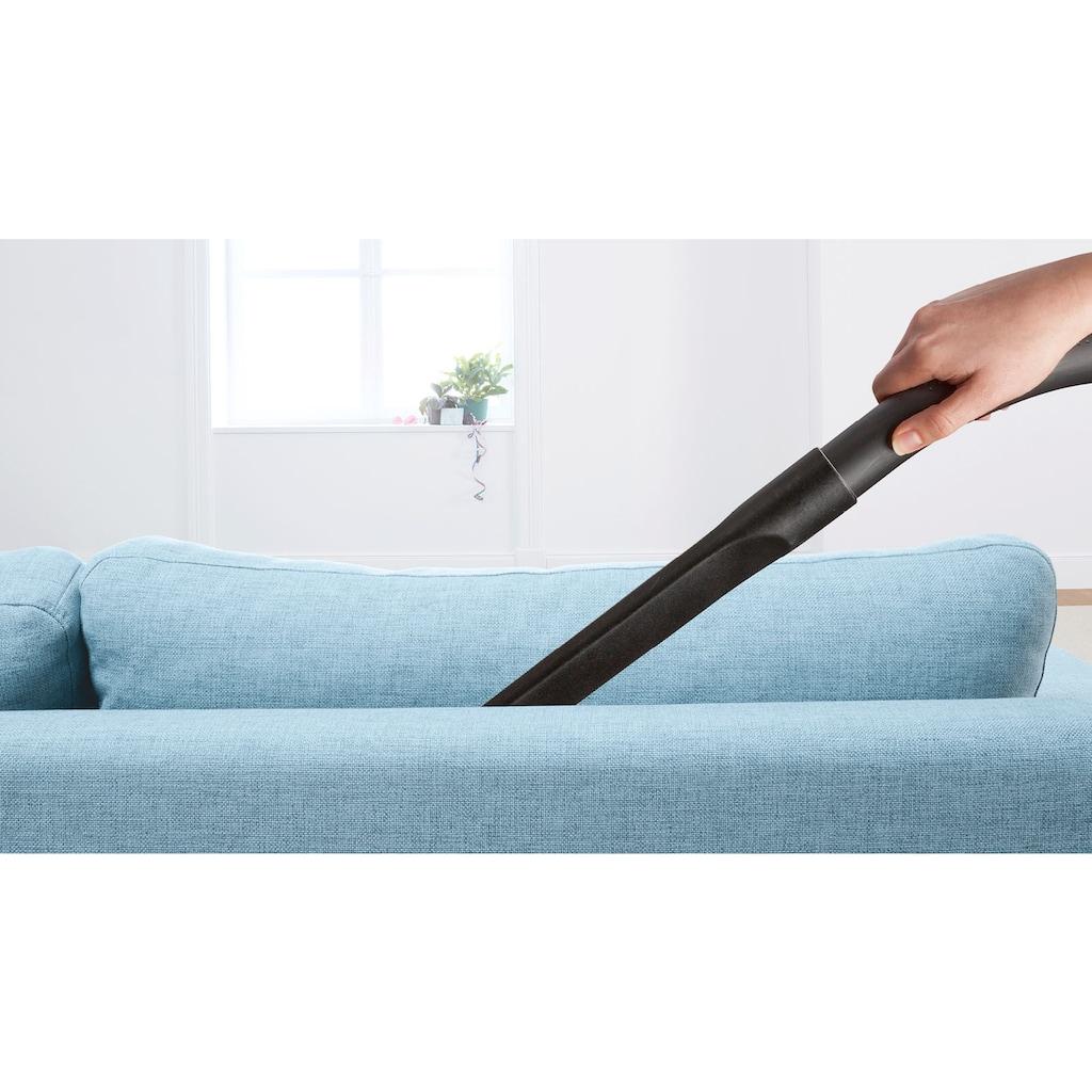 BOSCH Bodenstaubsauger »BGB75X494«, 650 W, mit Beutel, Hygiene-Filter: ideal für Allergiker, inkl. Bodendüse für Parkett, Teppich, Fliesen, langes Kabel, leise, 650 Watt, blau