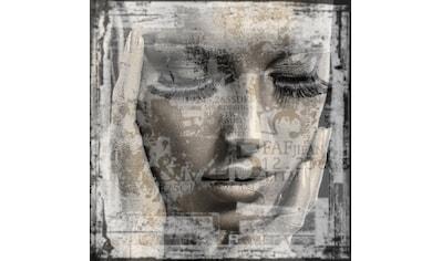 QUEENCE Holzbild »Frauen Gesicht«, 40x40 cm Echtholz kaufen