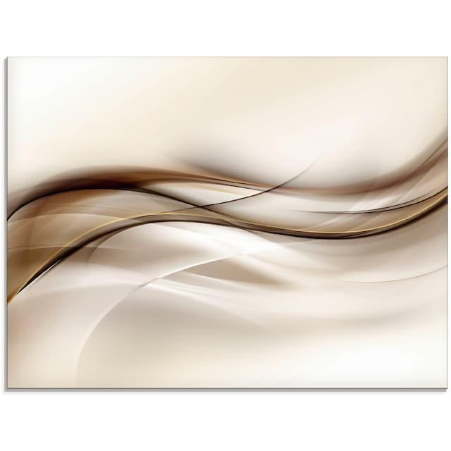 Artland Glasbild »Braune abstrakte Welle«