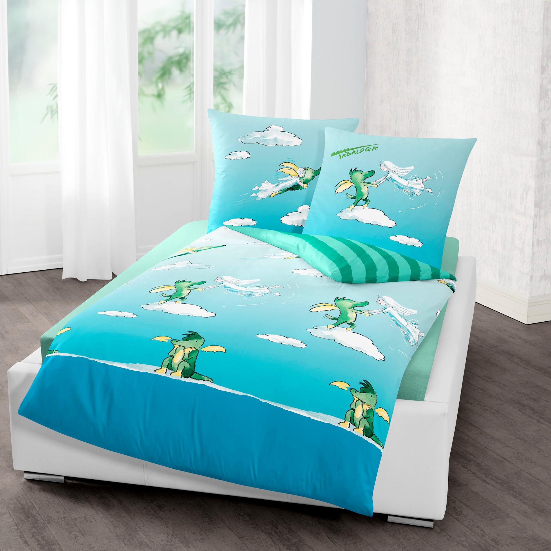 Kinderbettwäsche Wolke TABALUGA Wohnen/Wohntextilien/Bettwäsche, Bettlaken und Betttücher/Bettwäsche nach Größe/Bettwäsche 135x200 cm