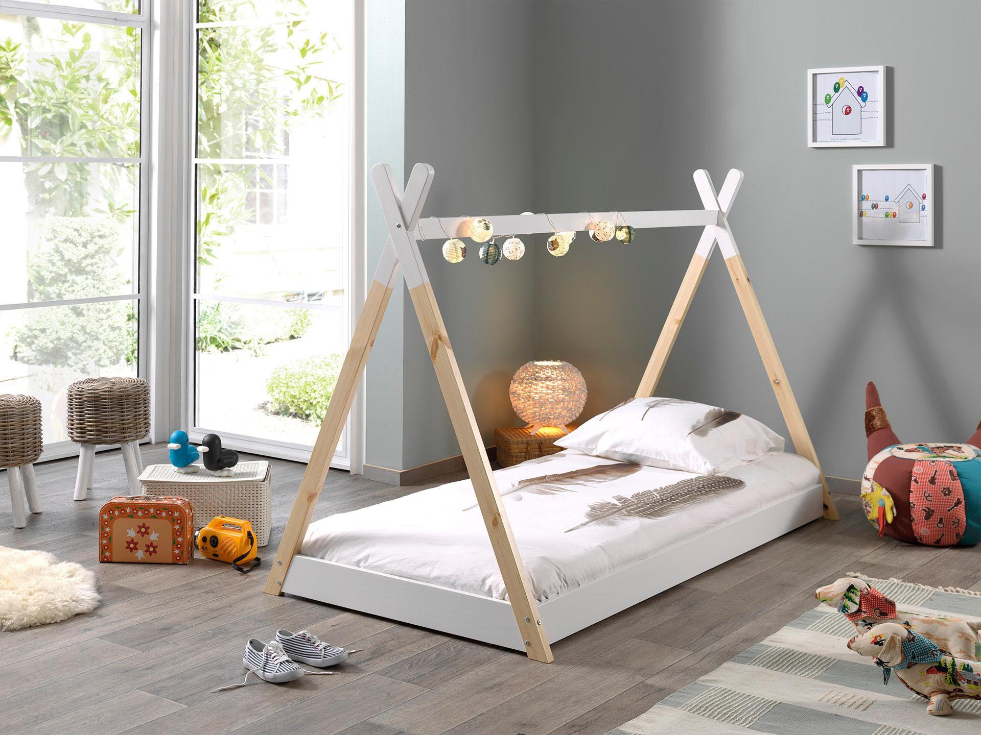 Vipack Kinderbett Tipi, mit Lattenrost weiß Kinder Kinderbetten Kindermöbel