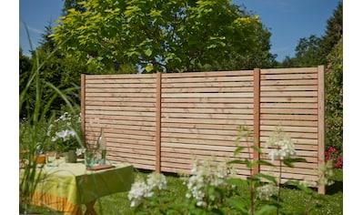 Kiehn - Holz Dichtzaun, 3 - tlg., LxH: 486x180 cm, mit 4 Pfosten kaufen