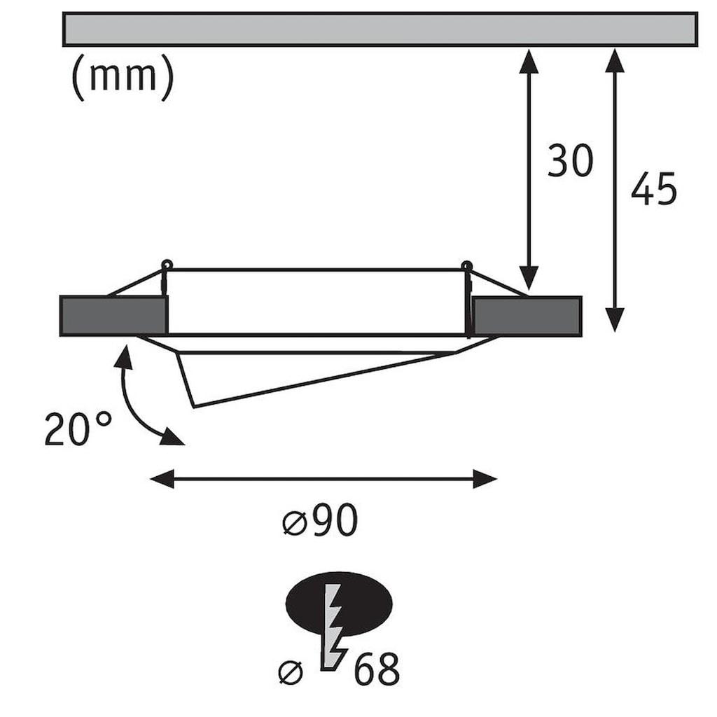 Paulmann LED Einbaustrahler »schwenkbar Base rund 1x5W Weiß matt«, 1 St., Warmweiß