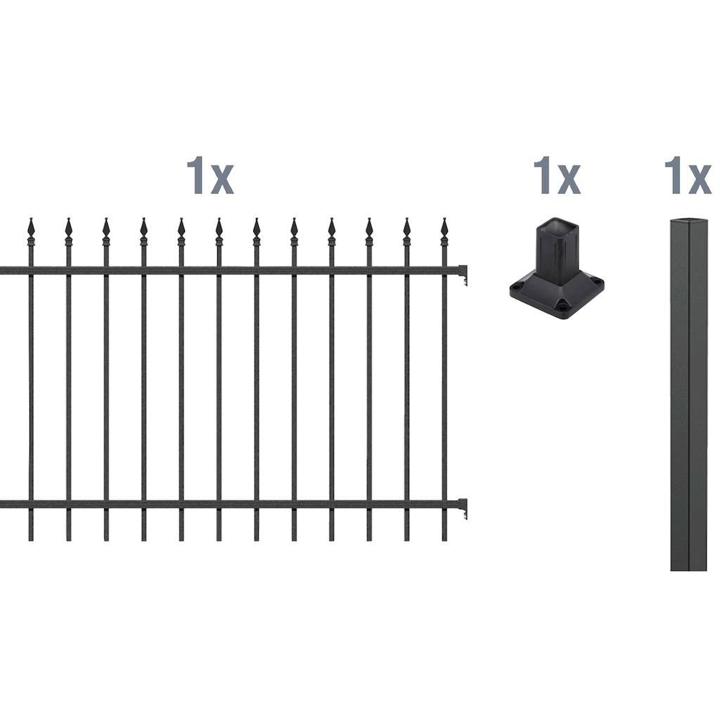 GAH Alberts Metallzaun »Chaussee«, Anbauset 120x200 cm, 1 Pfosten zum Aufschrauben