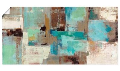 Artland Wandbild »Blaugrüne Wasser Reflektionen«, Muster, (1 St.), in vielen Größen &... kaufen
