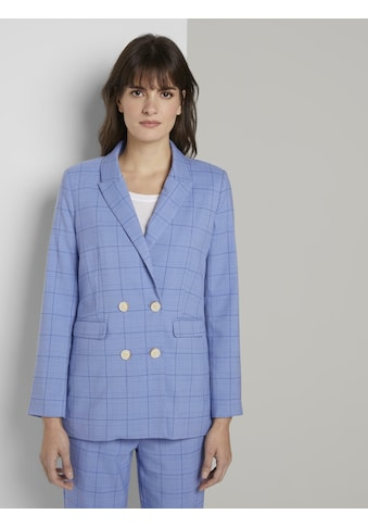 TOM TAILOR mine to five Longblazer »Karo Blazer im Girlfriend - Fit« kaufen