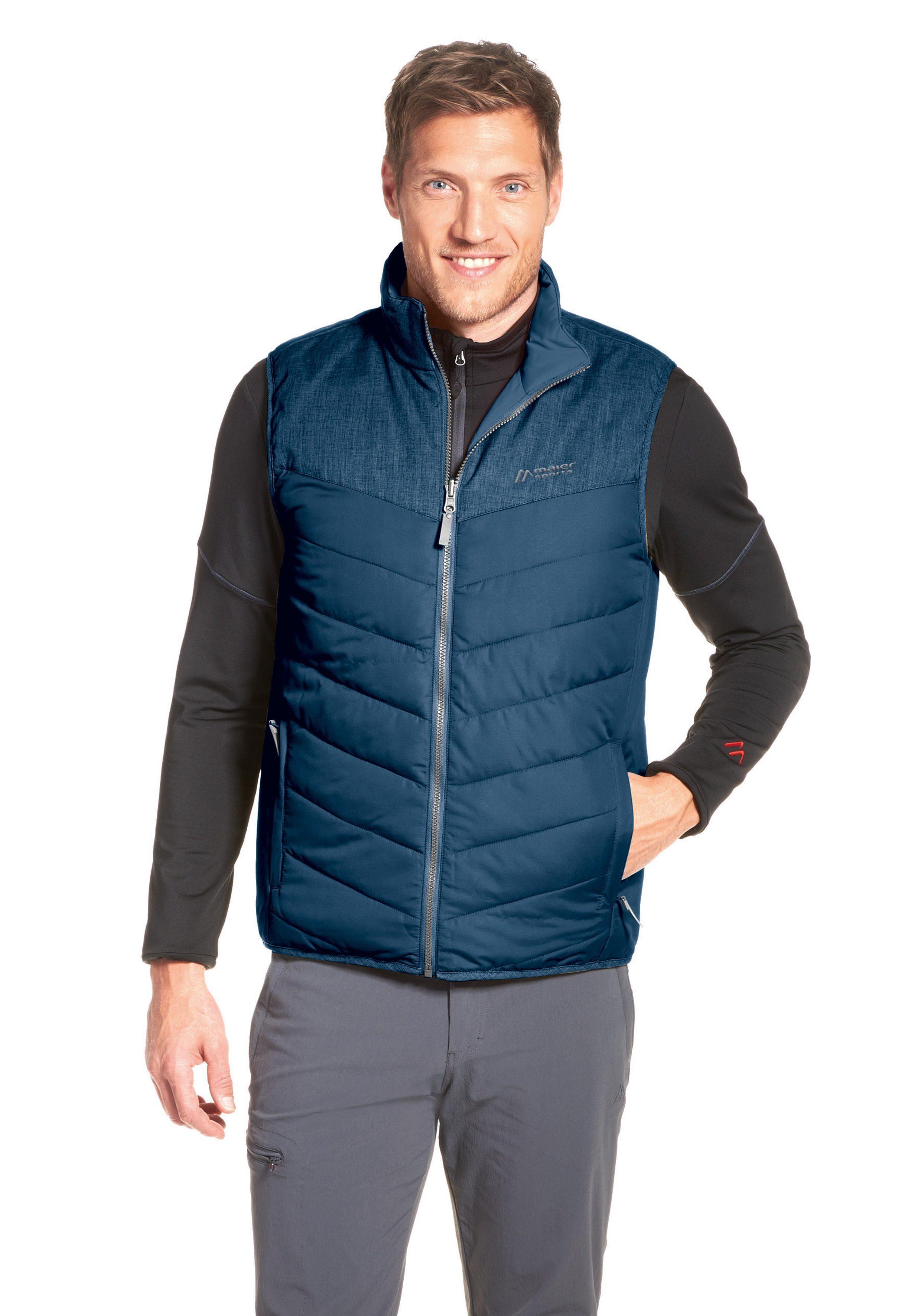 Maier Sports Steppjacke Gero Vest | Sportbekleidung > Sportjacken > Steppjacken | Blau | Maier Sports