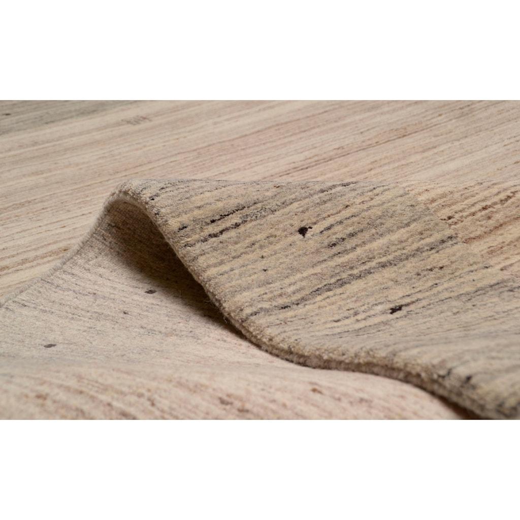 THEKO Wollteppich »Lori Dream 1«, rechteckig, 17 mm Höhe, reine Wolle, handgeknüpft, mit Bordüre, Wohnzimmer