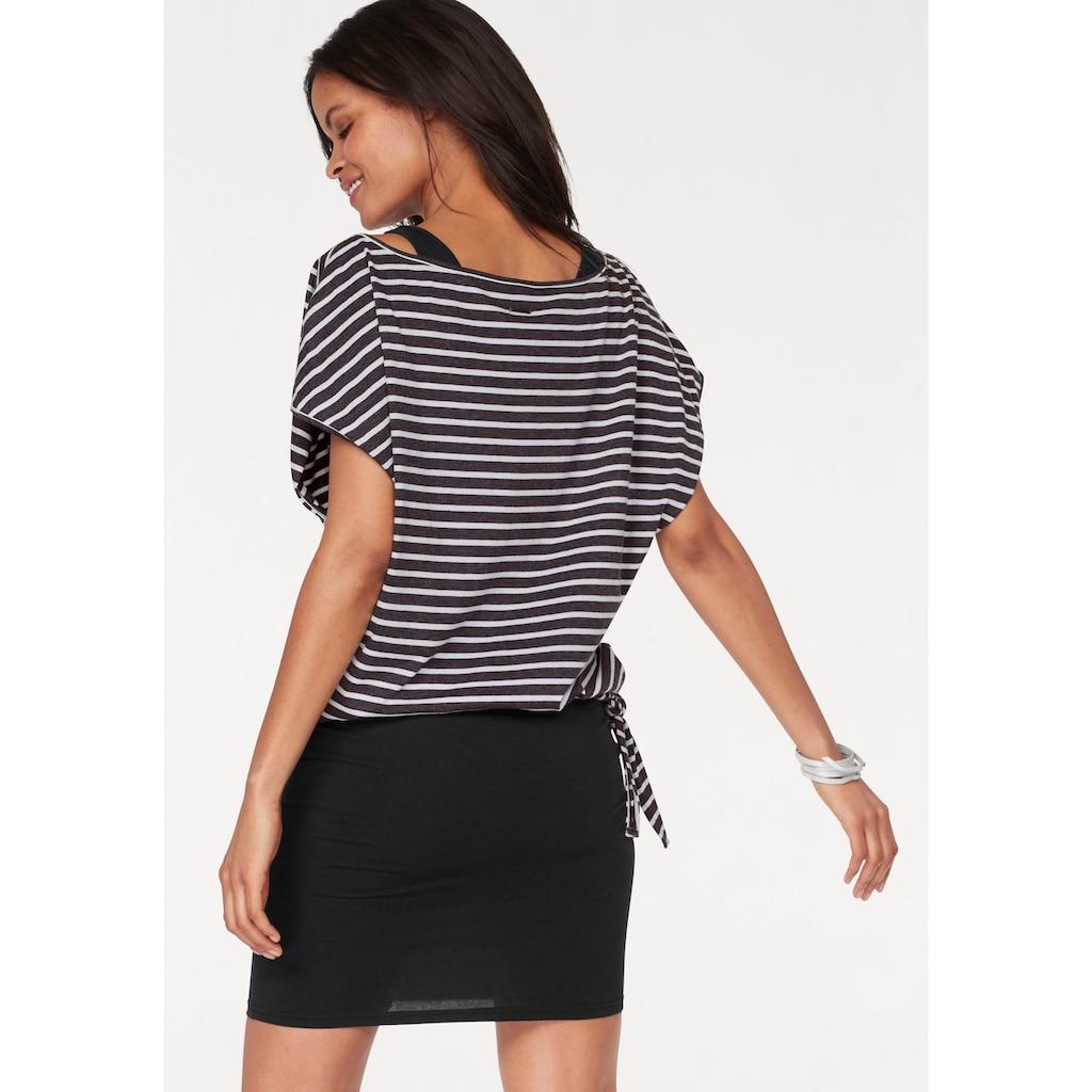 KangaROOS Jerseykleid, (Set, 2 tlg., mit T-Shirt), für einen sommerlichen Kombi-Look