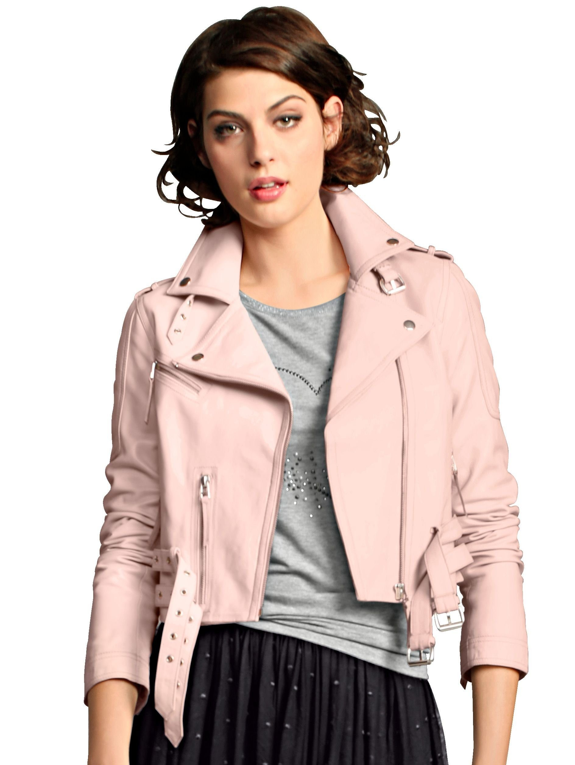 Alba Moda Lederjacke in kurzer Form für Damen | BAUR