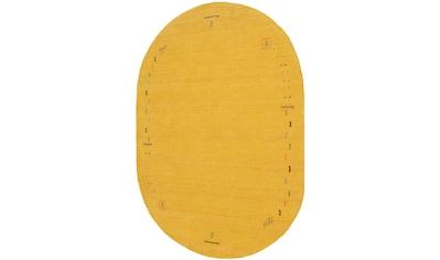 Wollteppich, »GABBEH FEIN FENTH«, morgenland, oval, Höhe 18 mm, handgewebt kaufen