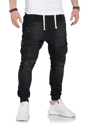 behype Slim-fit-Jeans »SAMY«, mit Biker-Steppung kaufen