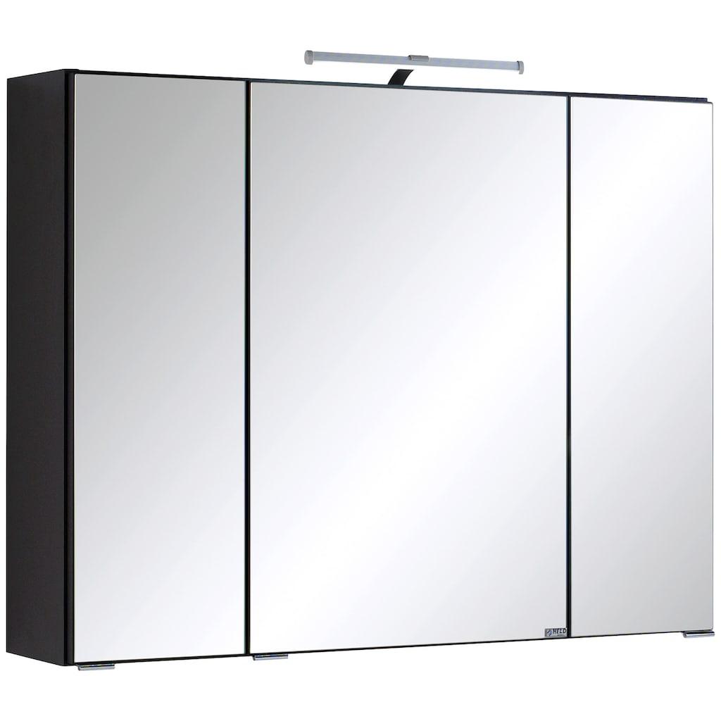 HELD MÖBEL Spiegelschrank »Texas«, Breite 80 cm, mit LED-Aufbauleuchte