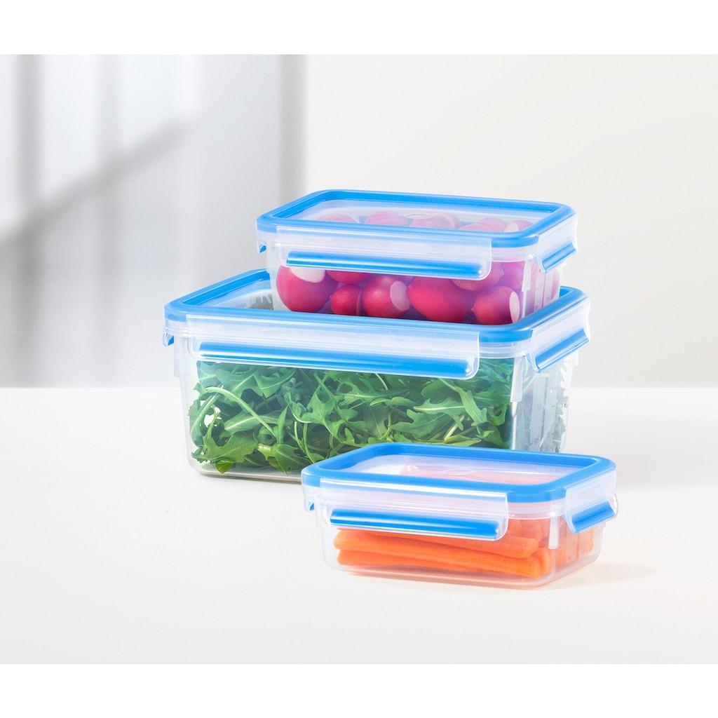 Emsa Frischhaltedose »Clip & Close«, (Set, 9 tlg.), 515481, spülmaschinenfest, hygienisch, 100 % dicht, auslaufsicher, unbedenklich, gefriergeeignet, Blau