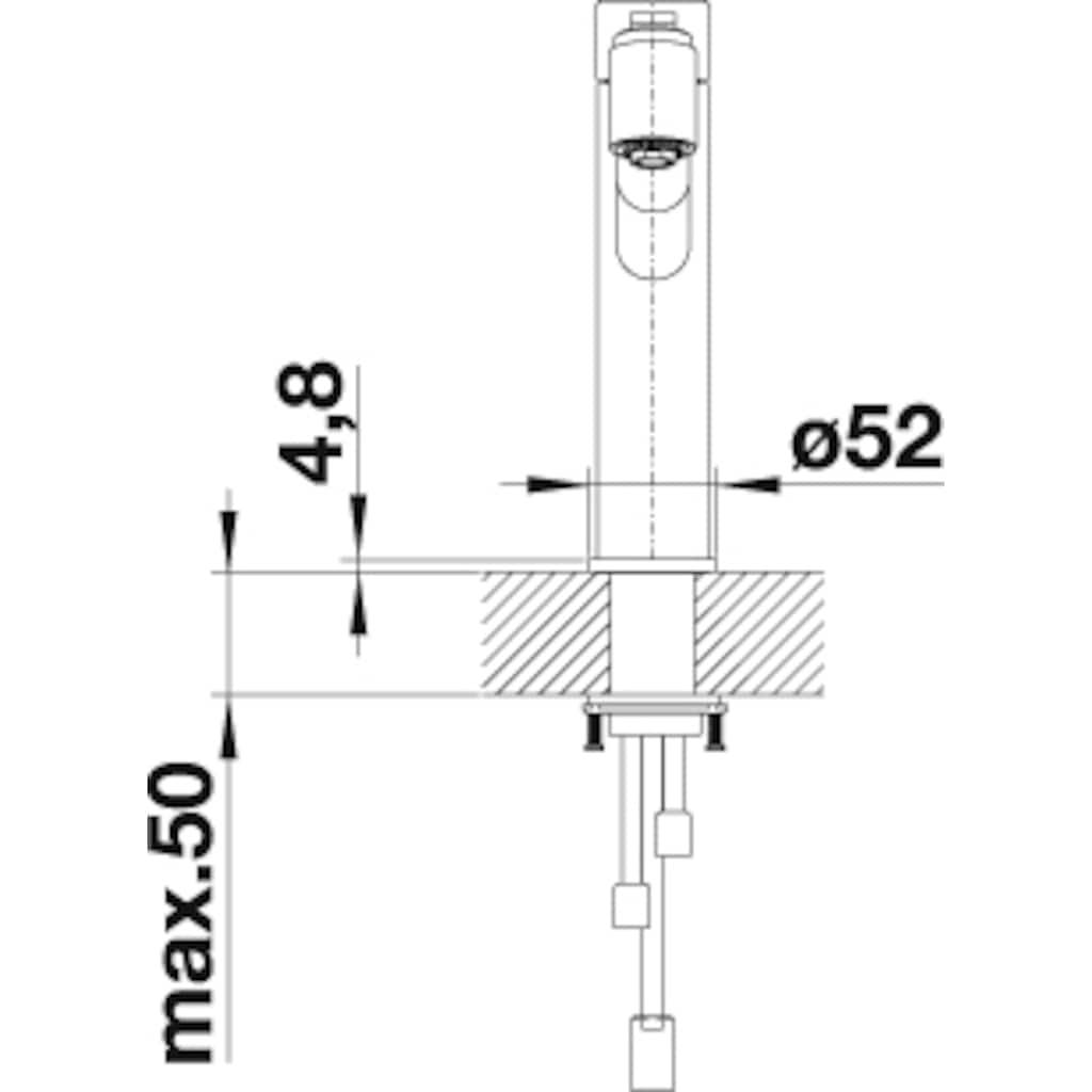 Blanco Küchenarmatur »AMBIS-S«, Hochdruck, mit herausziehbarer Zweistrahlbrause