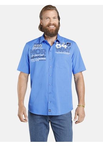 Jan Vanderstorm Kurzarmhemd »MARLI«, Baumwollhemd in Comfort Fit kaufen