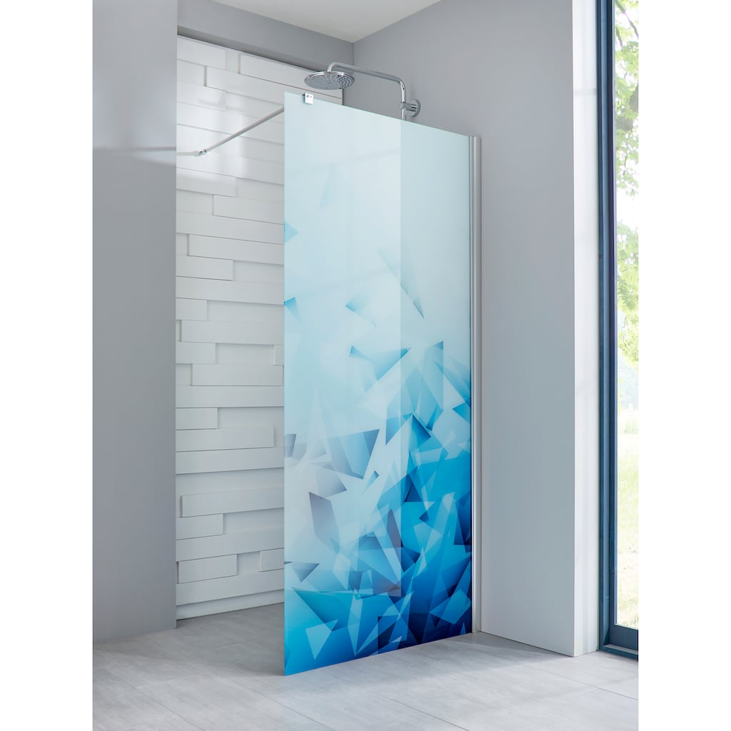 maw Walk-in-Dusche »Relax«, Breite 120 cm, Bildmotiv, Duschabtrennung