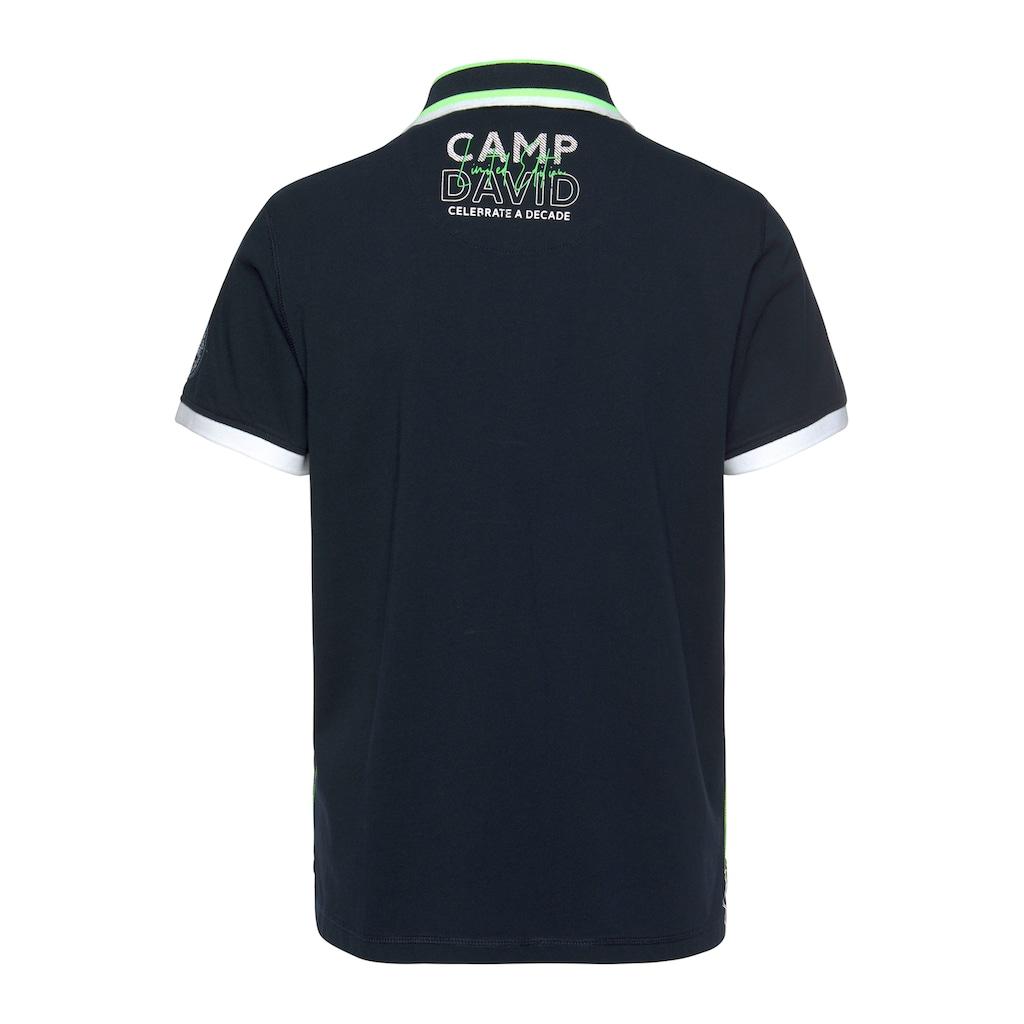 CAMP DAVID Poloshirt, mit auffälligen Details