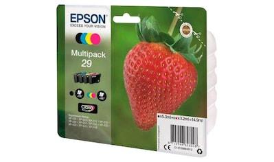 Epson »T2986, 29 Original Kombi - Pack Schwarz, Cyan, Magenta, Gelb C13T29864012« Tintenpatrone kaufen