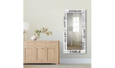 Artland Wandspiegel »Wo die Liebe wohnt«, gerahmter Ganzkörperspiegel mit Motivrahmen,... kaufen
