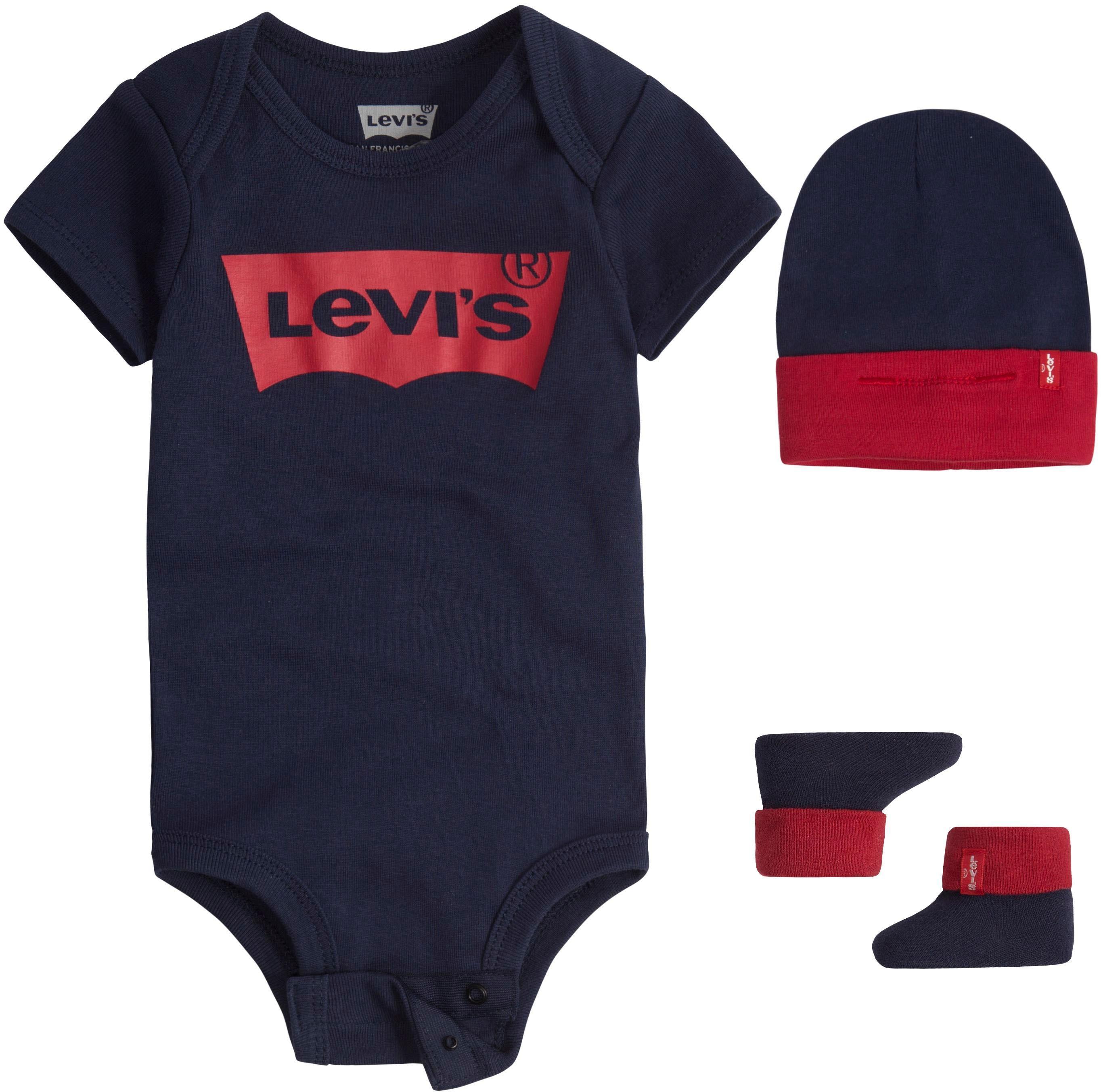Levi's Kidswear Neugeborenen-Geschenkset, mit großem Logodruck blau Baby Neugeborenen-Geschenkset