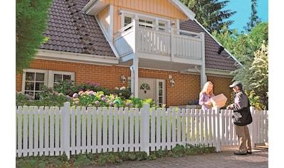 T&J Gartenzaun »Lexington 1«, Kunststoff, 80 cm hoch, 3 Elemente + 1 Tür für 6,85... kaufen