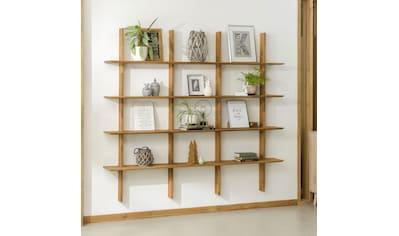 andas Standregal »Wieka«, aus massivem Eichenholz, Breite 197 cm kaufen