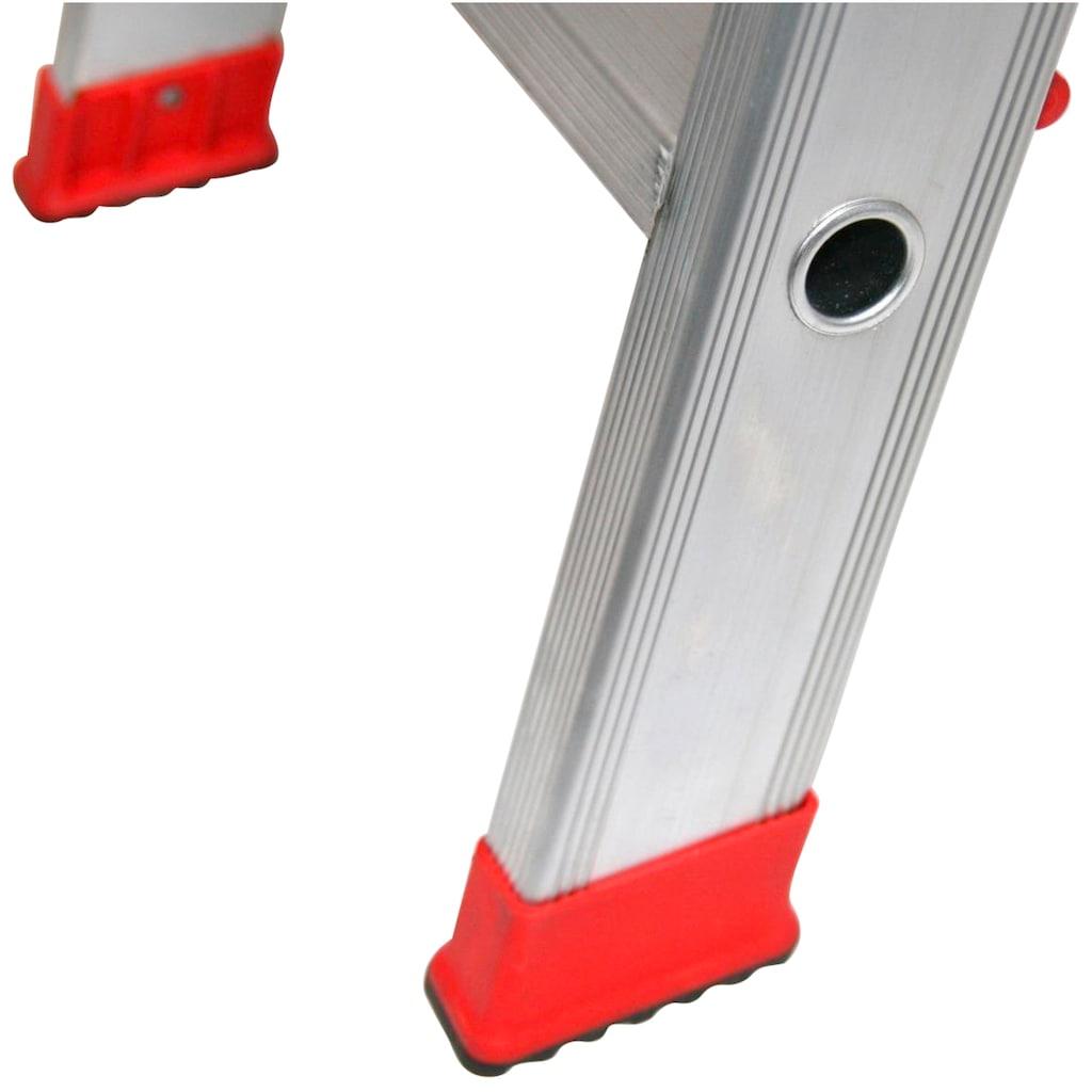 SZ METALL Stehleiter, Aluminium, 3 m, 4-stufig