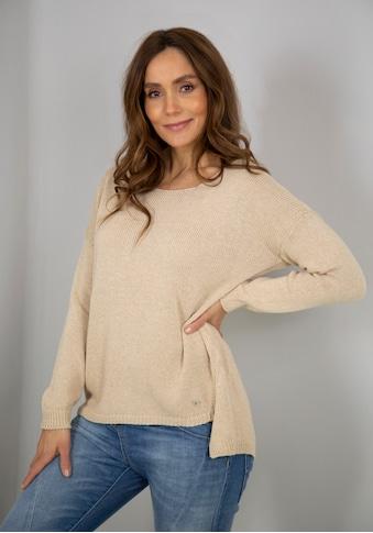 Please Jeans Rundhalspullover »PL-M49«, in schöner Melange-Optik kaufen