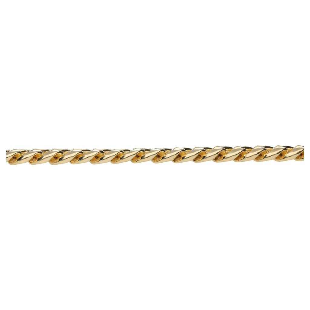 Luigi Merano Armband »Panzerkette, Panzerarmband, teilmassiv, Gold 585«