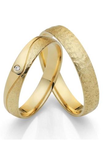 Firetti Trauring mit Gravur »glanz, Hammerschlag, Diamantschnitt, 4,0 mm breit«, Made... kaufen