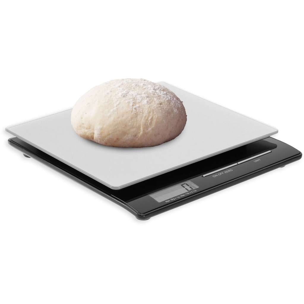 ADE Küchenwaage »KE 1215 Franzi«, Kompaktwaage mit LCD-Display spart Platz in Küche und Haushalt, äußerst präzises Wiegen mit 1g-Schritten bis 5kg