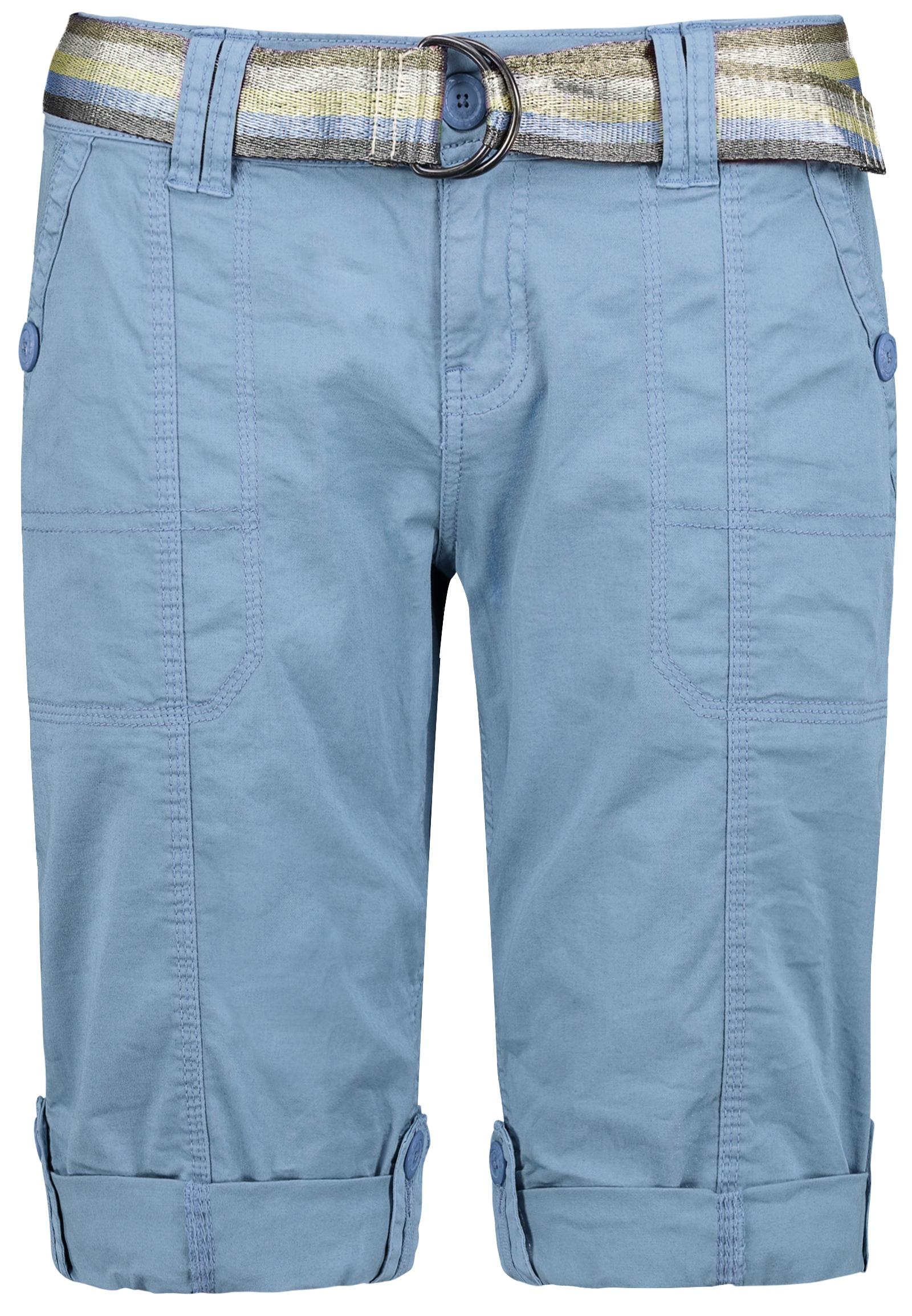 Fresh Made Bermudas, mit Gürtel blau Damen Kurze Hosen Bermudas
