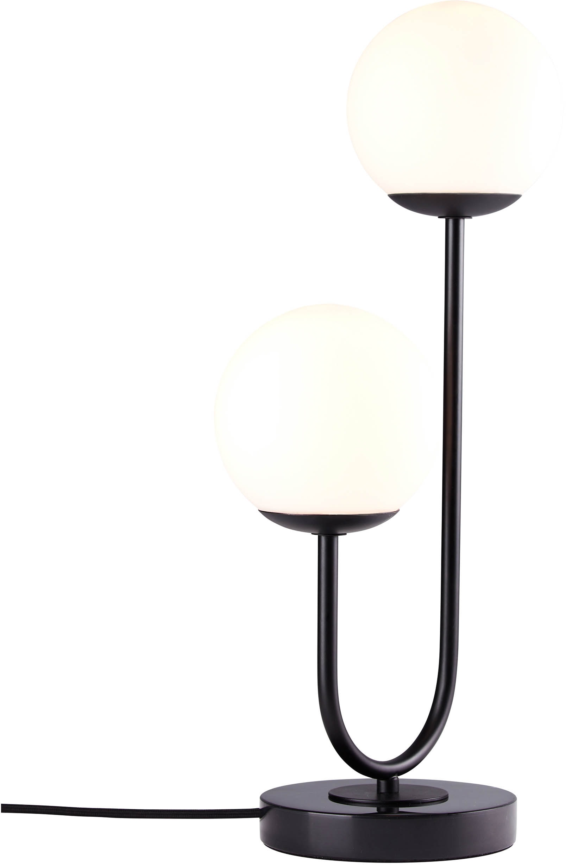 elbgestoeber Tischleuchte elblicht, E14, 1 St., Tischlampe mit Kugeln aus Opalglas, Fuß aus hochwertigem Marmor