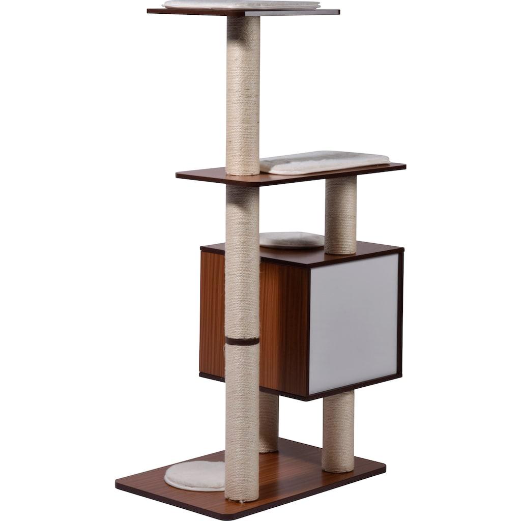 dobar Kratzbaum »XXL-Sammy«, hoch, BxTxH: 68x40x120 cm, 4 Liegeflächen, Katzenhöhle mit flauschigem Katzenbett