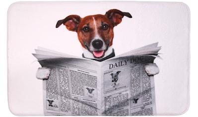 Sanilo Badematte »Newspaper«, Höhe 15 mm, schnell trocknend, Memory Schaum kaufen