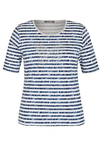 Rabe Rundhalsshirt, mit Allover-Muster und Glitzersteinen kaufen