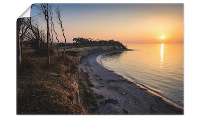 Artland Wandbild »Sonnenuntergang auf Rügen«, Küste, (1 St.), in vielen Größen &... kaufen