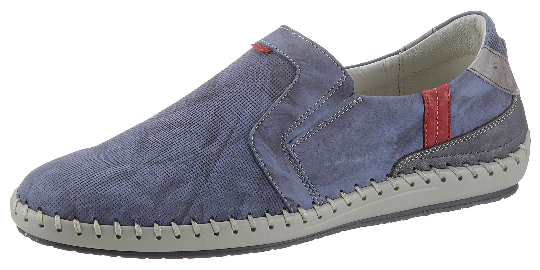 KRISBUT Slipper, im Used-Look blau Herren Slipper Sneaker