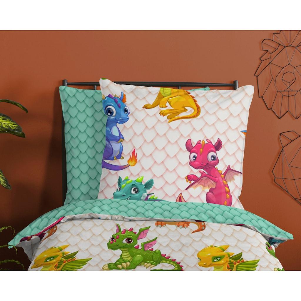 good morning Kinderbettwäsche »Dragons«, mit Drachen