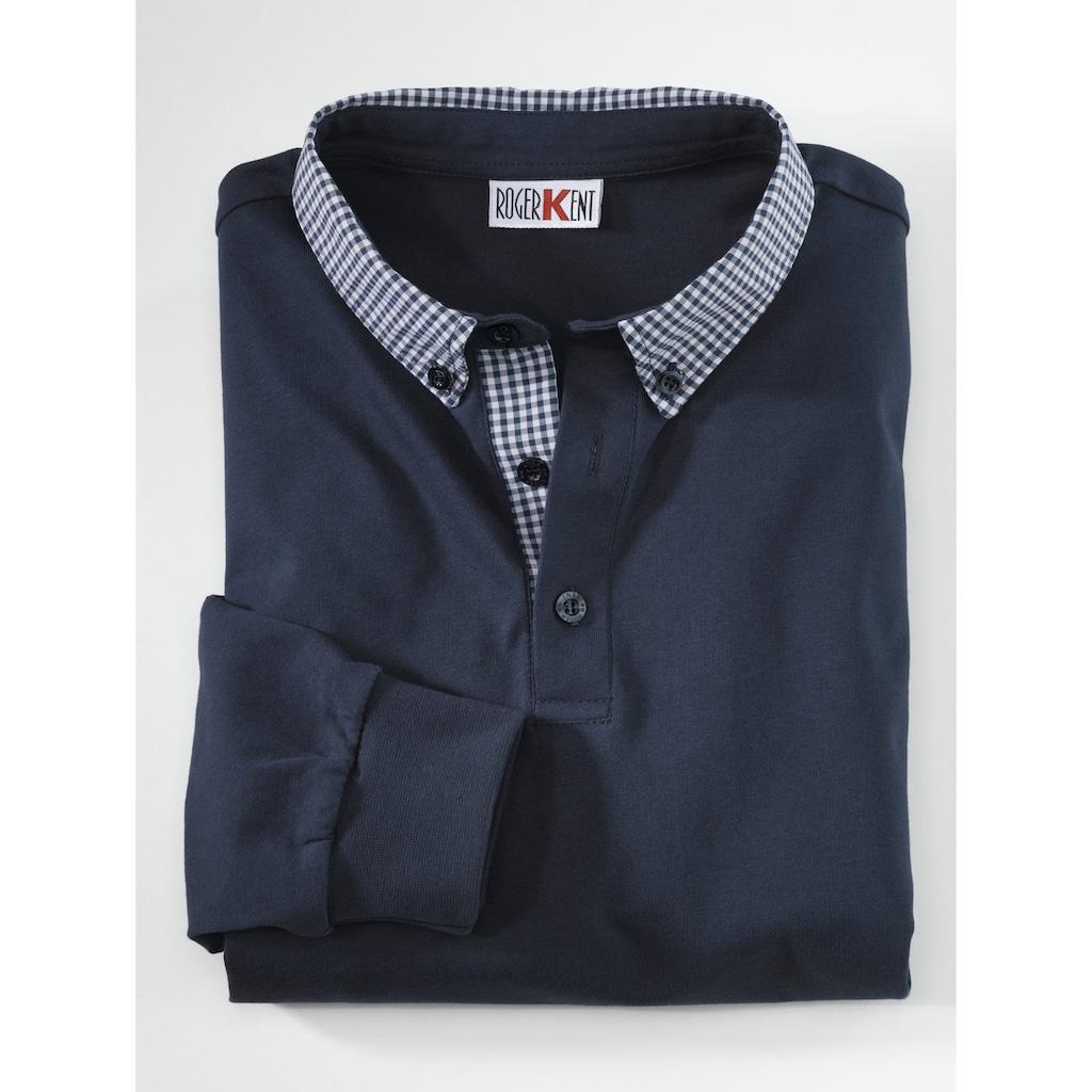 Roger Kent Poloshirt, mit Webbesatz am kragen
