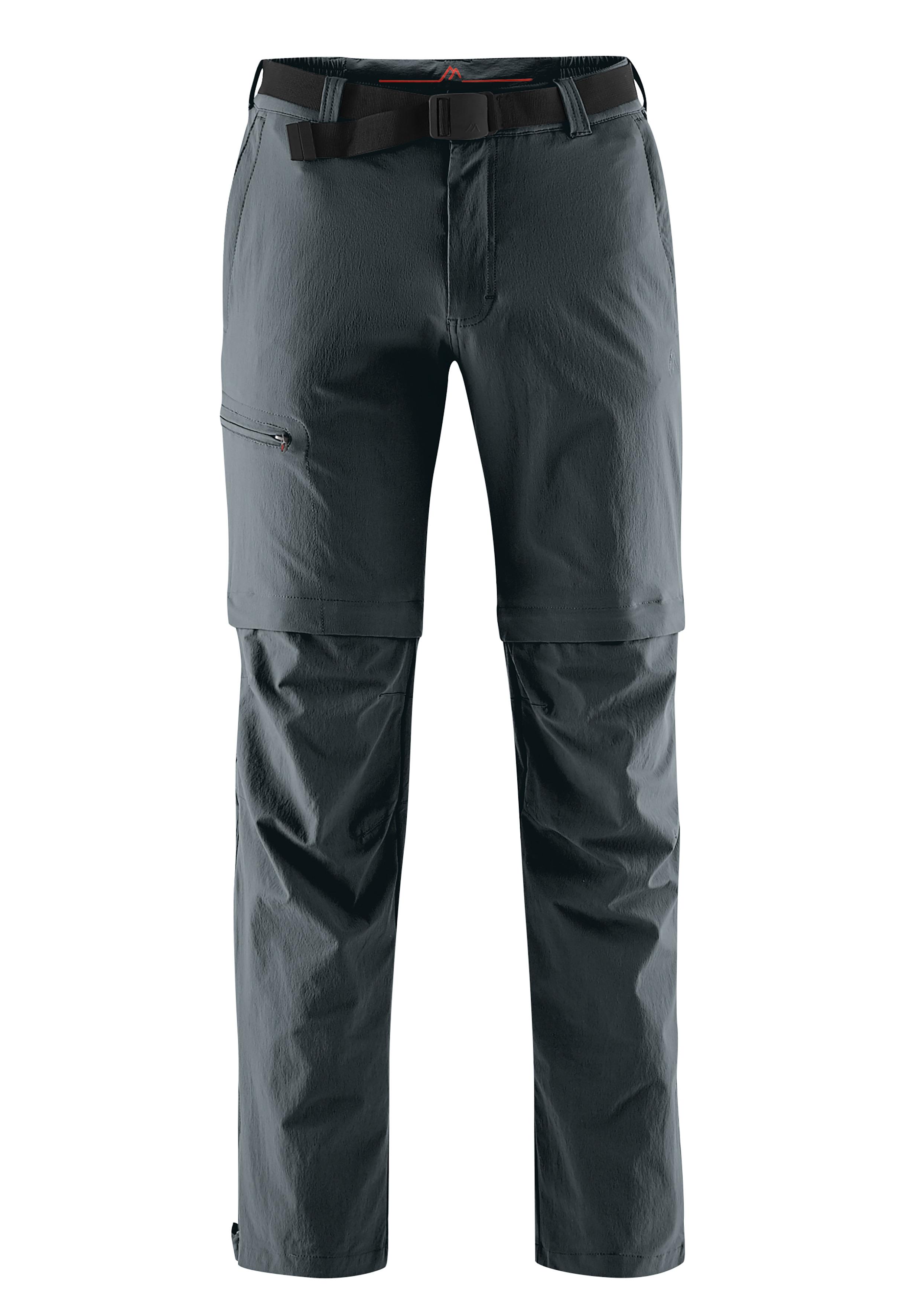 Maier Sports Funktionshose Tajo, Ausgezeichnete Outdoorhose mit funktionellem T-Zipp-Off grau Herren
