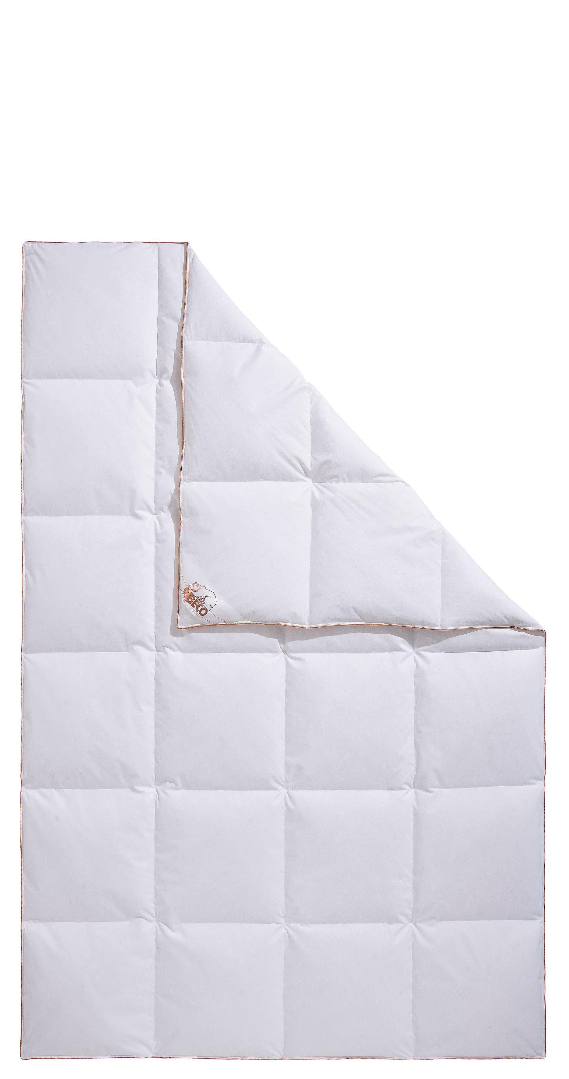 Daunenbettdecke Ella RIBECO normal Füllung: 90% Daunen % 10% Federn Bezug: Baumwolle