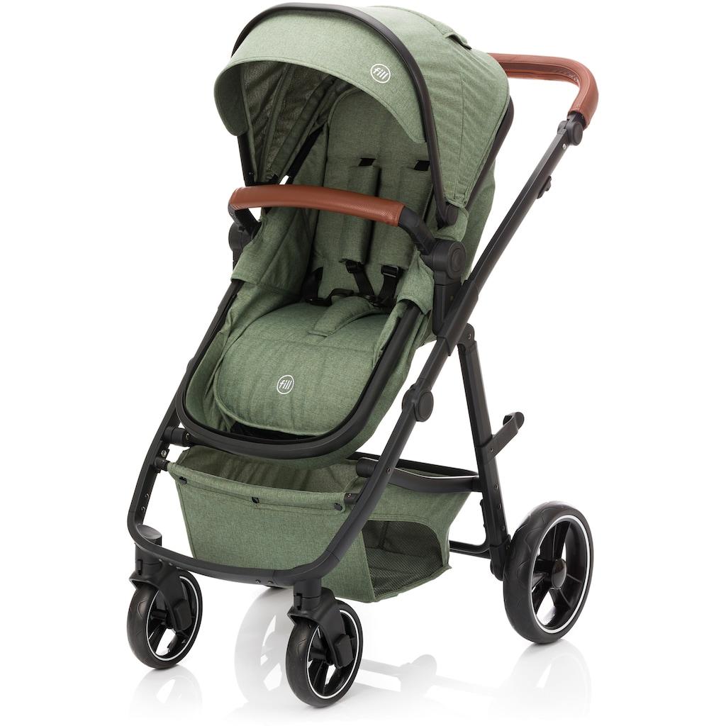 Fillikid Kombi-Kinderwagen »Panther, forest green/melange«, 22 kg, mit Babyschale; Kinderwagen