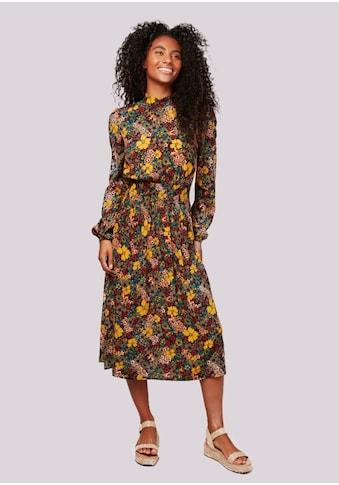Apricot Druckkleid »Retro Floral Midi Dress«, mit Smokband kaufen